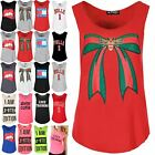 Womens Ladies Curved Hem Print Summer Stretch Fitness Sports Gym Casual Vest Top