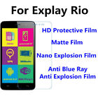 3pcs For Explay Rio High Clear/Matte/Nano Explosion/Anti Blue Ray Screen Film