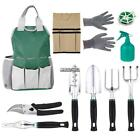 11 PCS Garden Tool Bag Set Folding Stool Tools Gardening Stainless Steel Gift