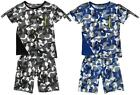 Boys Crazy Camo Paving Geometric T-Shirt Top & Shorts Summer Set 3 to 12 Years