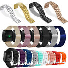 For Fitbit Versa Silicone Stainless Steel Smart Watch Wrist Band Strap Bracelet image