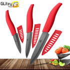 """Ceramic Knife Chef Knives Black Blade Colorful handle 3"""" 4"""" 5"""" Inch Fruit new"""
