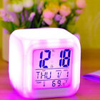 Snooze Projection Digital Change 7 Color LED Glowing  Alarm Clock-Relieve Stress