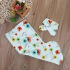 Newborn Infant Baby Deer Swaddle Blanket Warm Sleeping Muslin Wrap+Headband Set