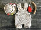 Внешний вид - Newborn Fisherman Overalls Hat and Fishing Pole baby boy outfits clothes gift