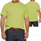 Mens T shirt Basic Crew Neck Cotton Tee Plain color T-shirts 6XL Big & Tall image