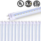 4FT Led Tube Light T8 22W G13 Clear Natural White4000-4500K Dual-End Powered