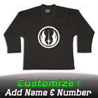 Jedi Order Star Wars Solid Black Hockey Practice Jersey Optional Name