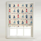 Sail Boats Red & Blue -Thermal Blackout Roller Blind, Metal Tube