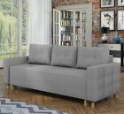 Sofa Bed SOLA with Storage Container Sleep Function Fabric New