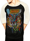 Official Justice League Issue 217 Baseball Shirt Elements of Disaster Cover Art