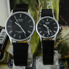 New Waterproof Couples Lovers Watches Leatheroid Band Analog Quartz WristwatchesWristwatches - 31387