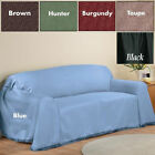MADISON FURNITURE SOLID COUCH THROW COVER FOR SOFA, LOVE SEAT  CHAIR MANY COLOR