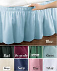 "WRAP AROUND BED RUFFLE / BED SKIRT 6 DIFFERENT COLORS TWIN/FULL & QUEEN/KING 14"" image"