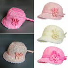 Lovely Baby Girl Cap Summer Princess Hat Bow Lace Kids Beach Bucket Hats