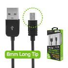 Cellet Extra Long 8mm Tip Micro USB Charging & Data Sync Cable