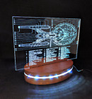 Star Trek Enterprise inspired 3D LED Desk Lamp, Colour Changing Starship Diagram on eBay