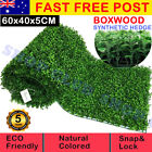 Artificial Boxwood Hedge Fake Vertical Garden Green Wall Ivy Mat Fence 10pcs