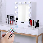 Hollywood Makeup Vanity Mirror Lighted Mirror Dimmer White +FREE LED Bulbs, USB