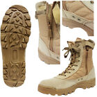 Mens Desert Tan Combat Military Army Shoes High Ankle Cadet Work Security Boots