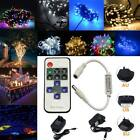 100 200 LED Fairy Christmas String Lights Decor Party Wedding Lamp AC to DC 12V