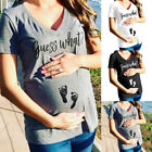 Pregnant Womens Summer Casual Blouse Funny Letter T-Shirt Tops Maternity Clothes