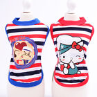 Kitty Dog Clothes Shirt Stripe Small Pet Cat Puppy Costume Popeye Vest Chihuahua