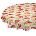 Harvest Fruit Vinyl Table Cover, Drop Style with Soft Backing image