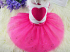 UK SMALL DOG TUTU PARTY DRESS PET CLOTHING OUTFIT FOR CHIHUAHUA MALTESE YORKIE