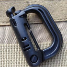 EDC Keychain Carabiner Molle Tactical Backpack Shackle Snap D-Ring Clip HU