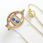 Mens Womens Harry Potter Time Turner Necklace Hermione Granger Spins Hourglass