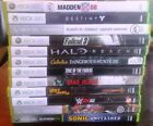 Large Selection of XBOX 360 games, all Tested and Work Great - Free Shipping