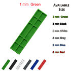 100mm x 28mm x 1mm GREEN PLASTIC WINDOW GLASS GLAZING PACKERS SPACERS