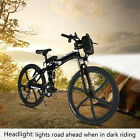 Fat Tire Electric Bike Mountain Snow Ebike Full Suspension Bicycle 7 Speeds MTB