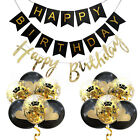 Rose Gold/black/sliver Happy Birthday Letters Balloons For Birtday Party Decor