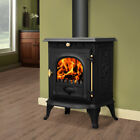 Wood Burning Stove 6.5KW Log Burner Multifuel Woodburning Stove Modern Fireplace