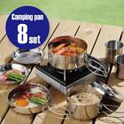 Camping Cookware Mess Kit Backpacking Camp Pot Bowls Cup Picnic Cooking Hiking