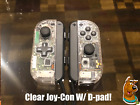 Custom Joy-Con with D-Pad. joycon w/ d pad clear and white!
