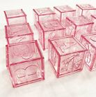 24 Fillable Blocks Baby Shower Favors Blue Pink Party Decorations Girl Boy Cubes