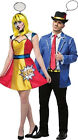 Adult size Pop Art Girl and/or Guy Couple Costumes Cartoon G
