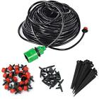 Water Irrigation Set Micro Drip Watering System Automatic Plant Garden Tool US