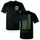 United States Army Military Veteran Soldier Star US USA Support T-Shirt Tee image
