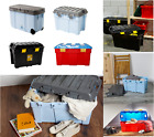 100L/48L Wham Plastic Storage Boxes Containers Kid's Toy Trunk Chest Tough Cart