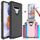 For LG Stylo 4/4+ Plus/Stylo 3 Armor Case Cover+Tempered Glass Screen Protector
