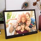 """15"""" Clock MP4 Multimedia Movie Player LED Digital Photo Frame Touch Buttom US"""