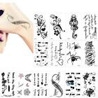 Black Tatoo Cat Bird Flower DIY Waterproof Fake Temporary Tattoo Sticker JZ