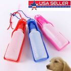 US Portable Pet Dog Travel Water Bottle Bowl Dispenser Feeder Drinking Container
