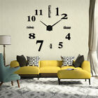 Acrylic Modern DIY Wall Clock 3D Mirror Surface Sticker Home Office Decor Gift