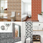 Nd_ 3d Pvc Tile Sticker Adhesive Wall Background Kitchen Bathroom Home Decor W