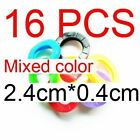 8pcs/16pcs Mixed Color Hollow Rubber Key Covers Round Soft Silicone Keys Locks C